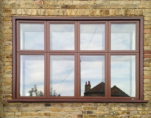 Aluminium-Casement-window-in-Brown