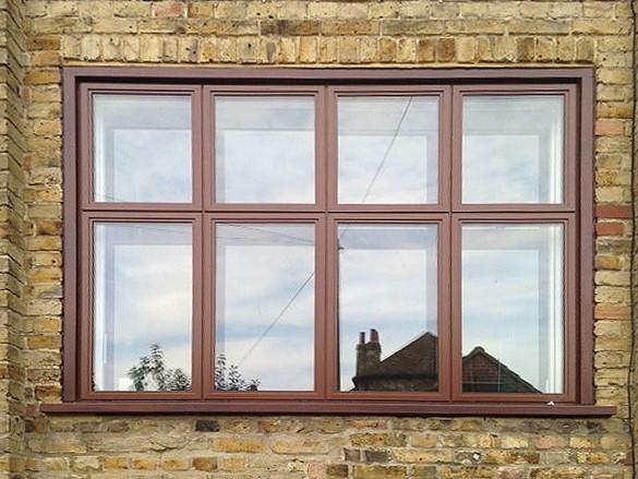 Aluminium-Casement-window-in-Brown