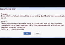 How to fix 12007 error in QuickBooks