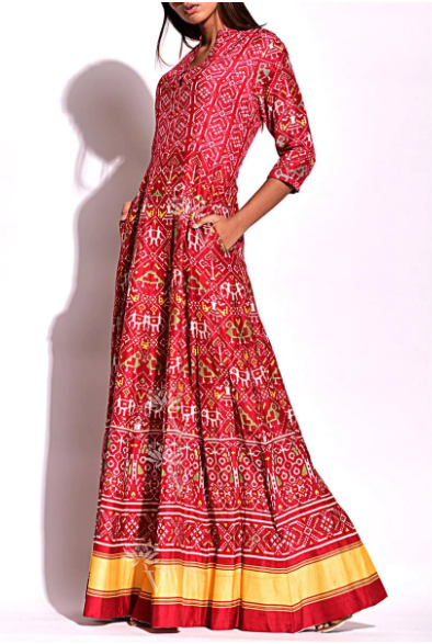 Anarkali Patola Gown to Look Super Trendy