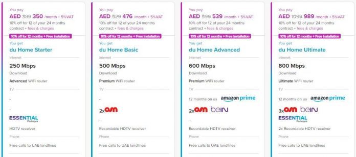 du home packages