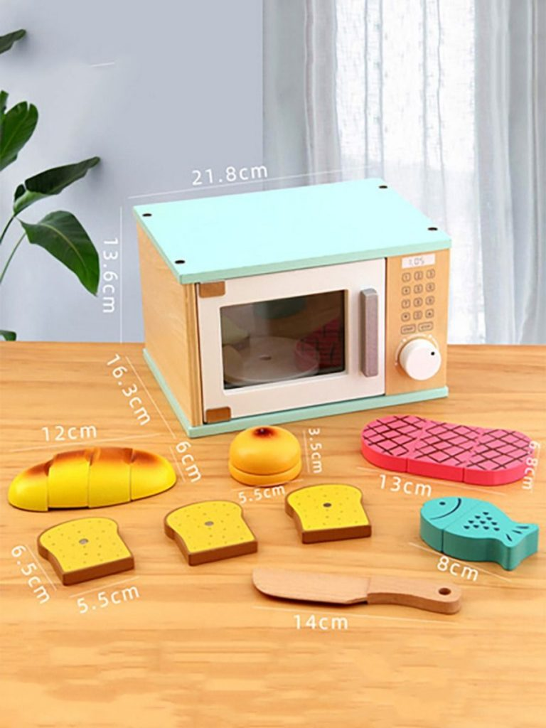 1 PACK WOODEN MINI OVEN HOUSE PLAY TOYS