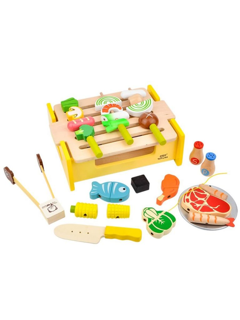 WOODEN BARBECUE COOKER TOYS SET