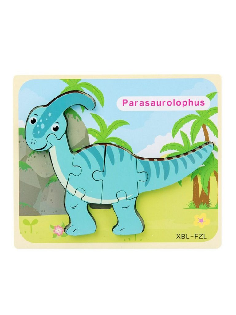 WOODEN DINOSAUR PUZZLES FOR TODDLER KID