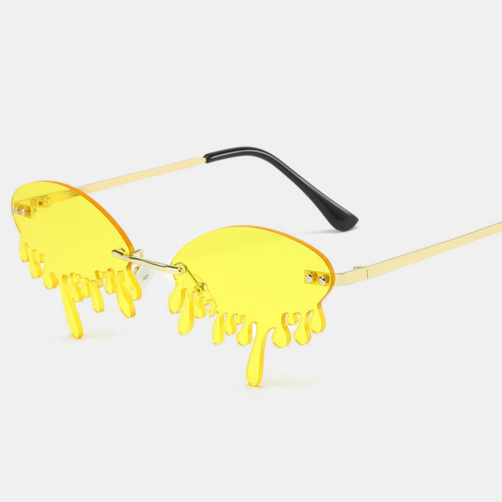 Rimless Tears Party Sunglasses
