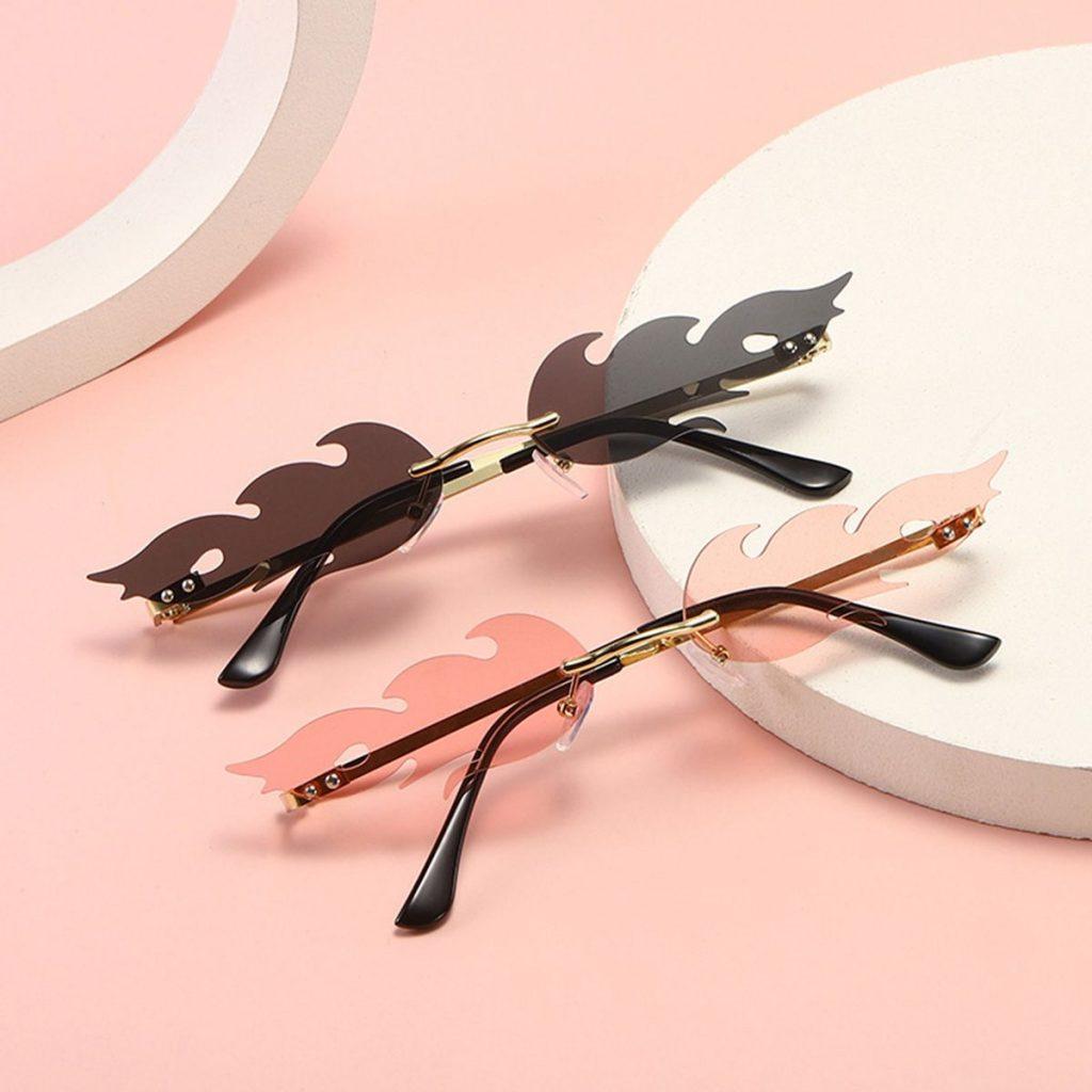 Fashion Frameless Flame Sunglasses