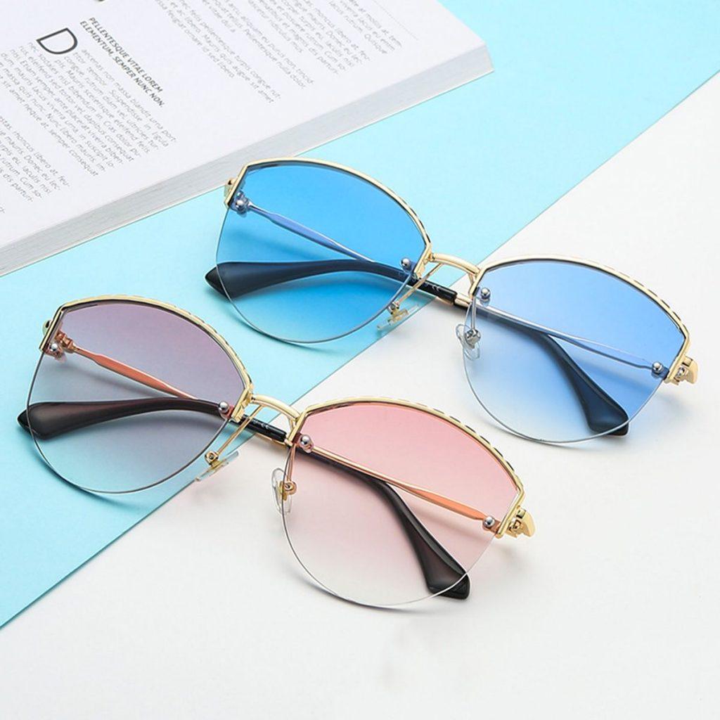 Geometric Edge Women Sunglasses