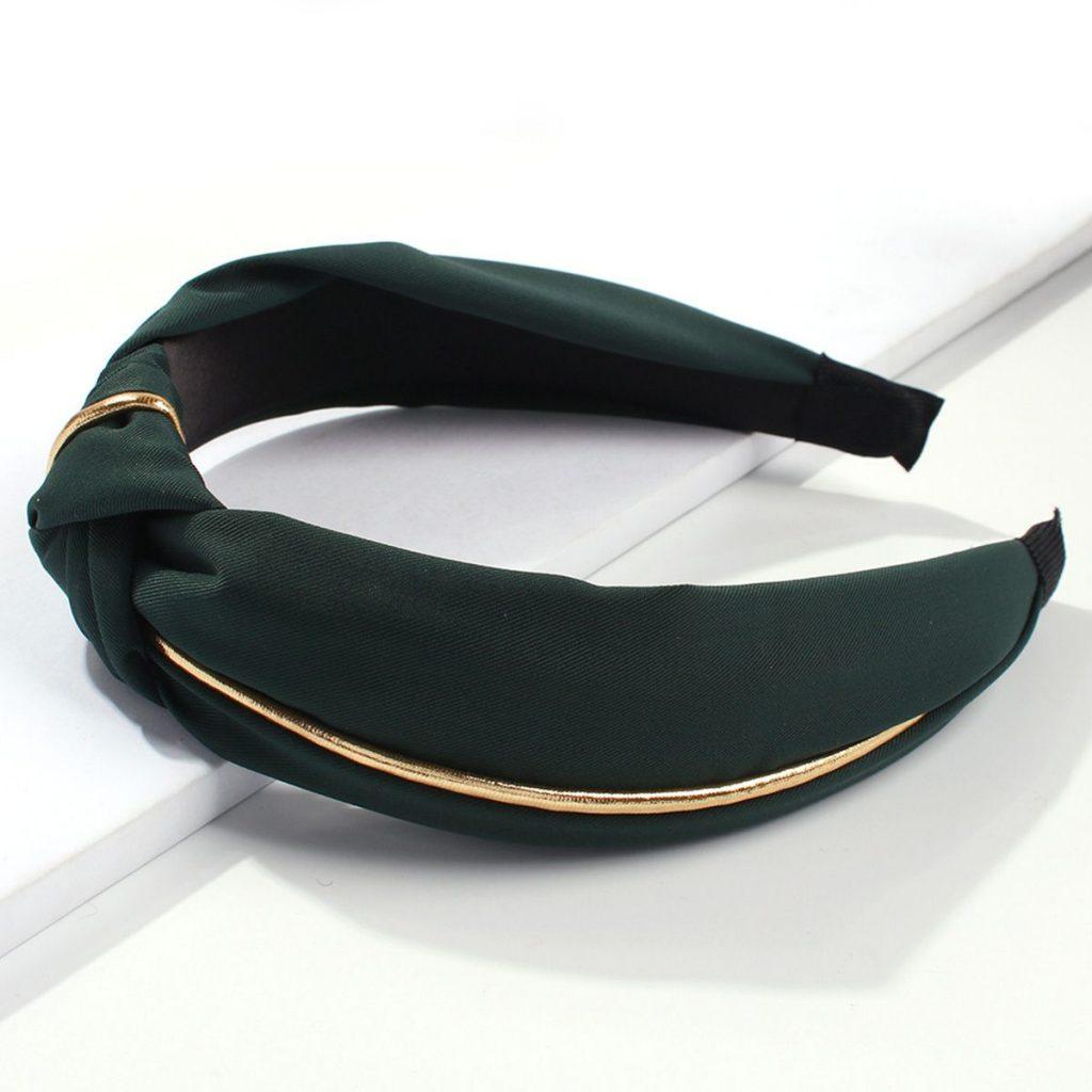 Broad Brim Bow Gilt Headband