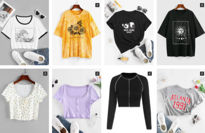 Zaful t-shirts discount